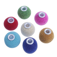 Resin Circle round shape Free shipping round shape 15mm indonesia beads coverd by seed beads.Mix colors round big hole spacer beads.