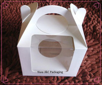 Wholesale DHLHot Sales x10cm Single Cupcake Boxes with Double Window JCO D
