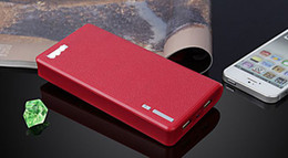 Wholesale 2013 Newest Wallet style power bank mah with LED Lighting Power Battery External Battery Pack USB Cable free