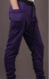 Wholesale Hot Men s PurpleTrousers Baggy Jogging Harem Pants Casual Sports Dance CZJ282H