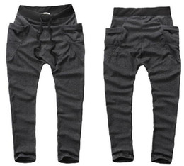 Wholesale Hot Men s gray Trousers Baggy Jogging Harem Pants Casual Sports Dance CZJ283H