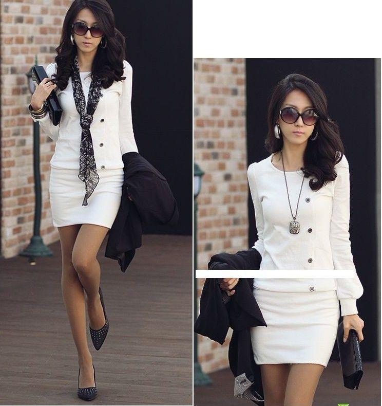 2017 new fashion korean women 39 s office ladies long sleeve Fashion style for short girl