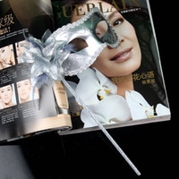 Wholesale Flower Party Mask Beauty Fashion Masks With Stick Wedding Halloween Ball Christmas Party Masquerade Masks Mix Order Many Colors