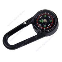 Wholesale Outdoor In1 Metal Compass Thermometer Fahrenheit Key Chain Hook Black