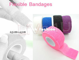 Wholesale Freeshipping Finger File Bandage Strip Protection Flex Wrap Color Rolls Manicure Tool Accessory UNL70