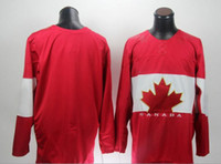 Wholesale 2014 Sochi Winter Olympics Hockey Jersey Red blank Ice Hockey Jersey Team Canada Hot Sale Players Sports Jerseys Well Stitching Mix Order