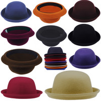Wholesale Fashion Vintage Men Women Cashmere Cloches Cap Hat Chic Adorable Elegant Bowler Hat Colors Choose DDP