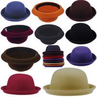 Wholesale Fashion Vintage Men Women Cashmere Cloches Cap Hat Chic Adorable Elegant Bowler Hat Colors Choose DDP