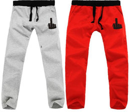 Wholesale new sale color Sport Trousers fuck middle finger printed sweatpants harem pants