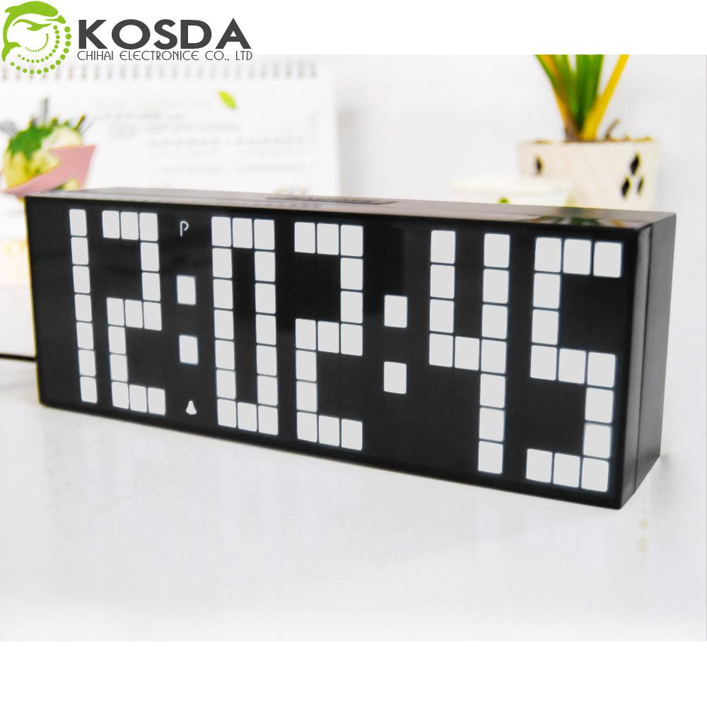 2017 Large Jumbo Led White Clock Display Table Desk Wall