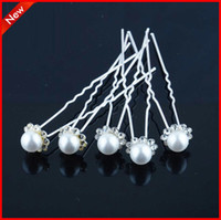 Clip & Pin Silk Flower  Free Shipping Cheap Clear U Shape Crystal Wedding Bridal Hair Pin Hair Clip Hair Accessories