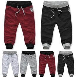 Wholesale 2013 Autumn summer Sport Harem Pants Bull Embroidery Hip Pop Sweatpants Casual Capri Pants For Men Drop Shipping J14DK02K085Q17