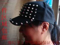 Wholesale New arrival cap rivets rivet hat punk cadet military cap hat lovers cap