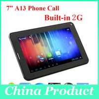 Wholesale Beauty Christmas Gift A13 Android Tablet PC G phone Call Tablet Android M GB Capacitive Touch Screen L29 Tablet DHL Free