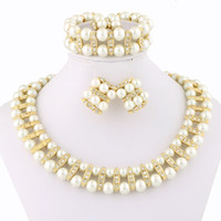 Wholesale Charm Beads Necklace Handmade Pearl Costume Jewellery Designer Fashion Jewelry A054