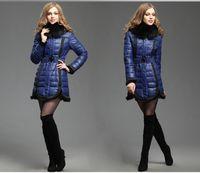 2013 New Design Winter Woman Down Outwear Special Design Fox...