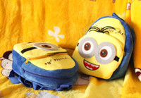 Wholesale New Lovely Despicable Me Minions Backpack Children Boy Girl School Bagpacks Kid Children s Bags Rucksack Free Ship