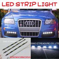 Wholesale 300pcs LED DRL Daytime Running Light Flexible DRL SMD LED Flexible LED Strip Light Waterproof