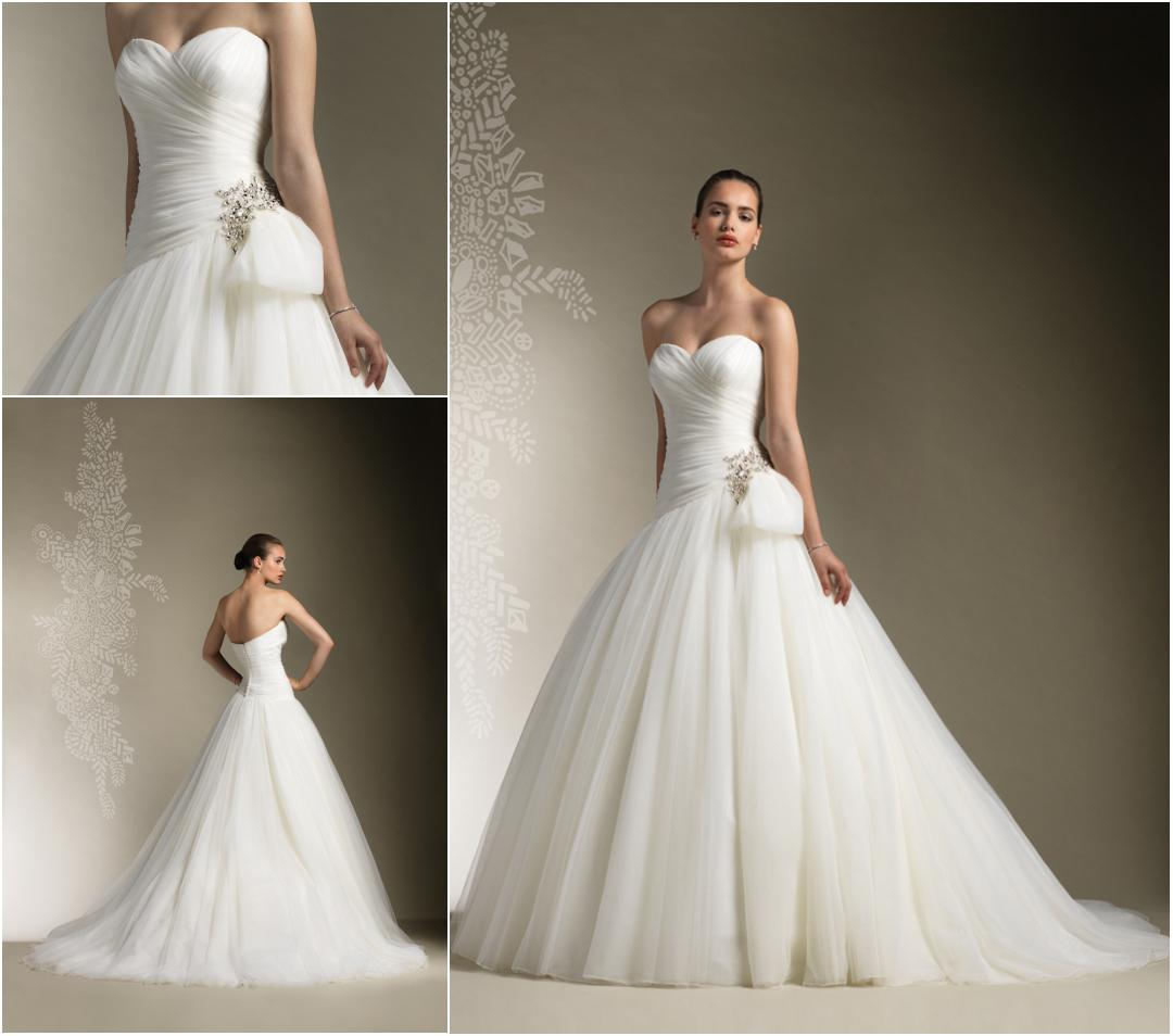 Vintage Ball Gown Fluffy Tulle Wedding Dress Bridal Gown