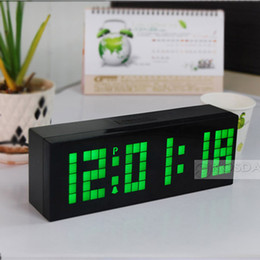 Free Shipping Glowing Big Digital And Multifunction Snooze Temperature Calendar Led Digital Clock Valentine's Gift