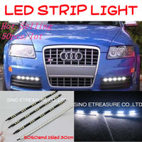 Wholesale HOT DRL SMD CAR FLEXIBLE STRIP DAYTIME RUNNING LIGHT LED LIGHT WHITE CM Waterproof