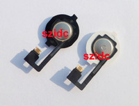 Wholesale Original New Home Button With Flex Ribbon Cable Assembly for iPhone Black White Replacement Parts Free DHL EMS