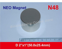 Wholesale N48 power Neodymium colomn magnet D2 x quot D50x25 mm