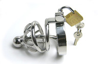 Male Chastity Cage  2013 latest design super small Bondage Chastity Belt Stainless Steel Urethral Catheter Chastity cage BDSM Fetish sex product