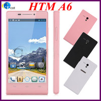 Wholesale 3G Dual Core HTM A6 MTK6572 android cell phones MB RAM G Inch Screen SmartPhone Android OS WCDMA mobile PHONE