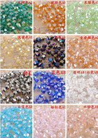 Crystal chinese crystal beads - 1200pcs Chinese Top Quality mm Crystal AB multi color Crystal Bicone Beads