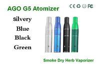 Electronic Cigarette Atomizer  Cheapest Smoke Dry Herb Vaporizer, Smoke Herb Atomizer Tank. Ago G5 Herb Vapor 510 Thread. eGo Smoke Cartridge for Wind Proof DHL free