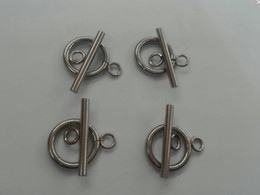 20 sets Good Quality silver Stainless steel accessor 14mm Ring.20mm Bar Jewelry finding DIY Toggle Clasp Set