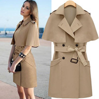 Coats Women Middle_Length 2013 fall and winter clothes new European and American women's solid color shawl OL temperament Slim was thin windbreaker coat wholesale