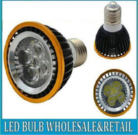 Wholesale 1pcs E27 GU10 E14 Par20 W W W AC110 V High Power Led Light Bulbs LED Lamp Spotlight