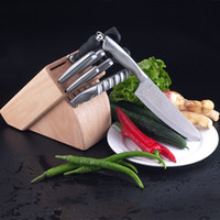 Wholesale 14Pcs Stainless Steel Kitchen Cutlery Set with W Wooden Block Include Kitchen Knife Kitchen Scissor KSS1001