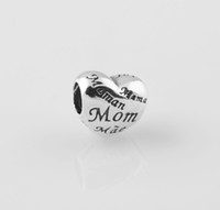 Wholesale Authentic ALE Sterling Silver A Mother s Heart Family Charm Bead Fits European Pandora Jewelry Bracelets
