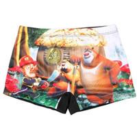Women Bikinis other Child swimwear boy swimming trunks multi color pattern