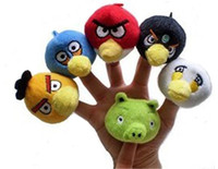 Unisex 3-4 Years Multicolor Wholesale - Hot Sale Anim a lBird Finger Puppet Toys Soft Plush Stuffed Educational Baby Toy Christmas Birthday Gift 6pcs set