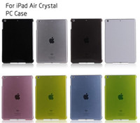 Wholesale Thin Crystal Clear Transparent Hard PC Back Case Smart Cover for inch iPad Air iPad ipad5 tablet PC CASE colors pink blue