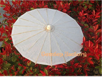paper parasols - Handmade inches plain white paper parasols Bridal wedding parasols Children s umbrellas