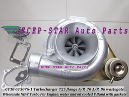 NEW GT30 GT3076 GT3076-1 Turbo Turbocharger T25 Flange A R .70 A R .86 wastegate water and oil cooled V Band with gaskets