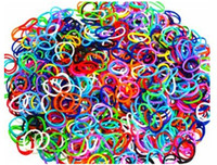 12-24M Multicolor Silicone Provided Refill Rainbow loom rubber band blending or monochrome ( 1200 rubber + 48 S +1 hook) 200 set