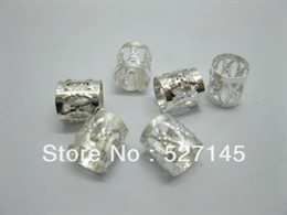 Wholesale 1000Pcs Silver Plated Hair Dreadlock Bead Cuff Clip dhl