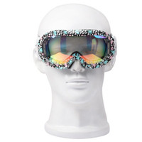 Wholesale Super Cool Muti Colorful Outer Antifog Snowboard Goggles Sport Safety Glasses with Strap Leash Durable Protective Goggles YC0032