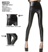 Leggings Skinny,Slim Washed Free Shipping Sexy Women Faux Leather Stretch High Waist Leggings Pants Tights 5 Colors WY204 200P