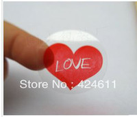 Wholesale 5000pcs CM CM transparent pvc love adhesive sticker for gift packing best price in aliexpress dhl