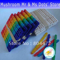 Wholesale Wood Jagged Stick Stick Popsicles Wooden Kids Toys IQ Stick Colored lotdhl