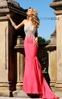 Reference Images Gold Sweetheart In Stock 2014 Sexy Cheap Sweetheart Sleeveless Mermaid Satin Beading Fashion Formal Evening Dresses Gown For Womens #45658