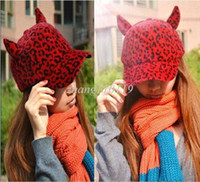 Wholesale christmas R Cute Animal Shape Women s Hats Leopard Design Baseball Caps Winter Peaked Caps For Female Colors