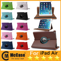 Wholesale Smart Rotating Case For iPad Air Degree Rotary Stand PU Leather Cover Cases For iPad iPad Mini Mini Retina Colors